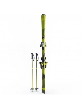 winter-sport-equipment-collection-3d-ski