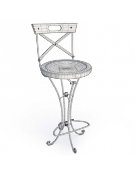luberon-collection-3d-stool-wireframe