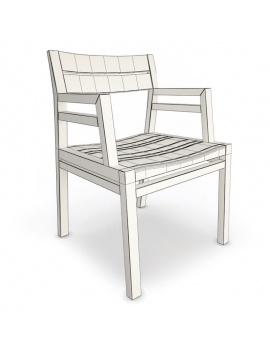 costes-collection-wood-furniture-3d-chair-wireframe