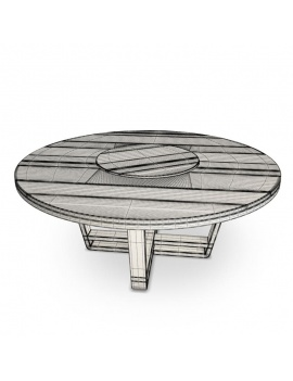 costes-collection-3d-models-table-round-wireframe