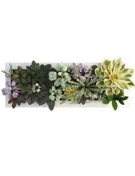 collection-de-plantes-et-fleurs-3d-tableau-vegetal