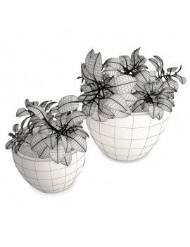collection-de-plantes-et-fleurs-3d-pot-plantes-filaire