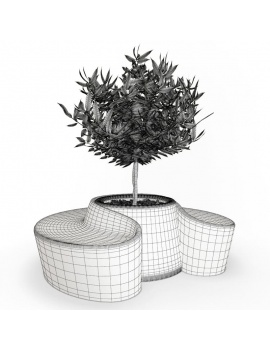 collection-de-plantes-et-fleurs-3d-pot-blanc-sardana-filaire