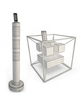 technology-accessories-collection-3d-speakers-wireframe