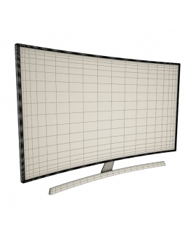 technology-accessories-collection-3d-tv-curve-01-wireframe