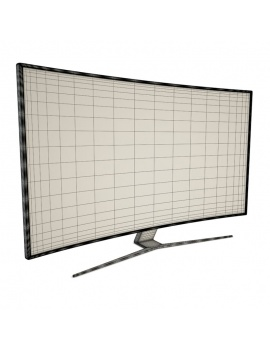 technology-accessories-collection-3d-tv-curve-02-wireframe
