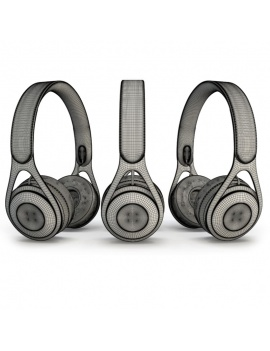 technology-accessories-collection-3d-headphone-beats-wireframe
