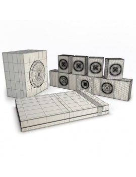 technology-accessories-collection-3d-home-cinema-wireframe