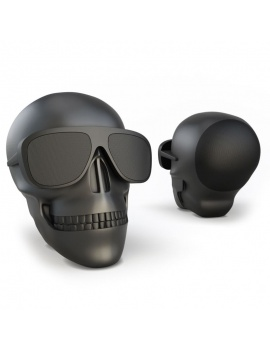 technology-accessories-collection-3d-speakers-skull-black