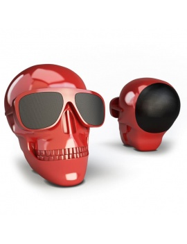 technology-accessories-collection-3d-speakers-skull-red