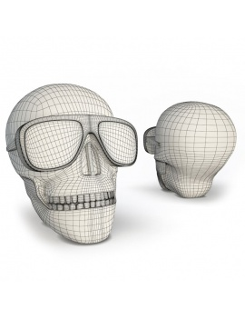 high-tech-technological-devices-3d-speakers-skull-wireframe