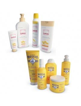 bathroom-products-and-metallic-shelves-3d-cadum-marseillais