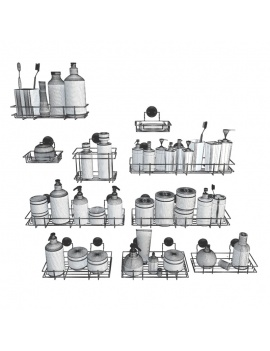 bathroom-products-and-metallic-shelves-3d-provence-wireframe