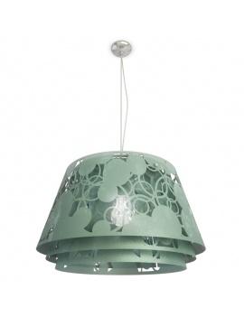 pendant-lamp-decorative-lampshade-3d-green