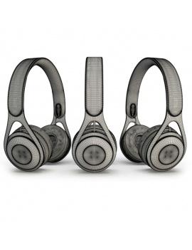 headphones-3d-wireframe
