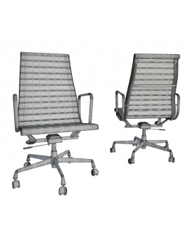 Architect-Collection-3d-black-chair-desk-wireframe