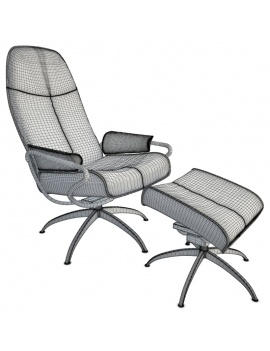 Architect-Collection-3d-black-relax-armchair-wireframe