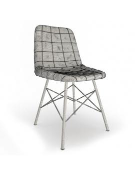 vintage-furniture-3d-doris-square-chair-wireframe