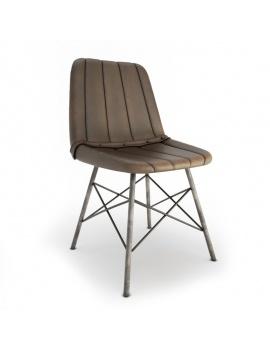vintage-furniture-3d-doris-stripe-chair