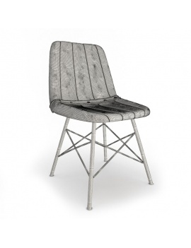 vintage-furniture-3d-doris-stripe-chair-wireframe