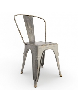 vintage-furniture-tables-and-seats-3d-rust-chair-grey-tolix