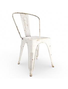 collection-3d-de-meuble-vintage-chaise-rust-blanche