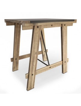 chaises-et-tables-meuble-vintage-3d-table-mesa-industrielle