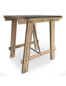 collection-3d-de-meuble-vintage-3d-table-mesa