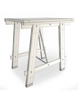 collection-3d-de-meuble-vintage-3d-table-mesa-filaire