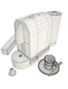 cafetiere-magimix-nespresso-3d-wireframe
