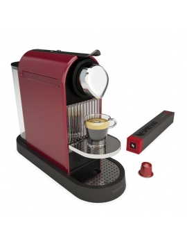 coffee-machine-city-krups-nespresso-3d