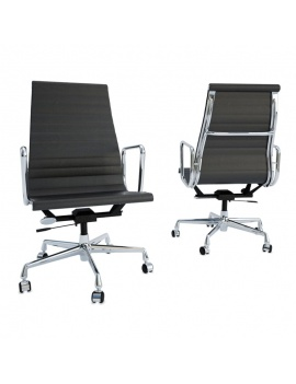 office-desk-composition-3d-black-chair