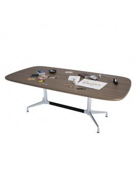 office-desk-composition-3d-desk