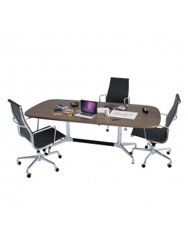 office-desk-composition-3d-