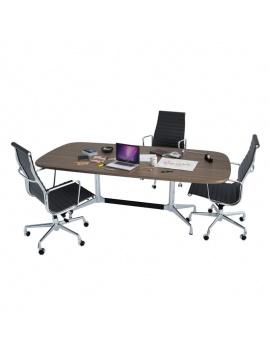office-desk-composition-3d-