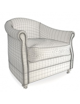 collection-of-pub-vintage-furniture-3d-artu-armchair-wireframe