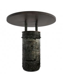 collection-de-mobilier-pub-vintage-3d-table-baril-noir