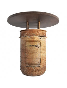 collection-of-pub-vintage-furniture-3d-barrel-3