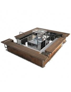 collection-de-mobilier-pub-vintage-3d-comptoir-industriel