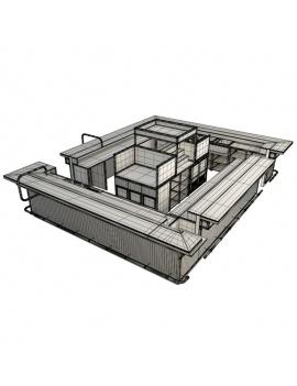 collection-de-mobilier-pub-vintage-3d-comptoir-industriel-filaire