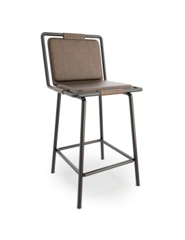 collection-of-pub-vintage-furniture-3d-CBR424-Stool