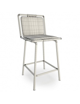 collection-of-pub-vintage-furniture-3d-CBR424-Stool-wireframe