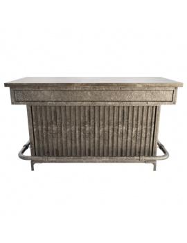 collection-de-mobilier-pub-vintage-3d-comptoir-indiustriel