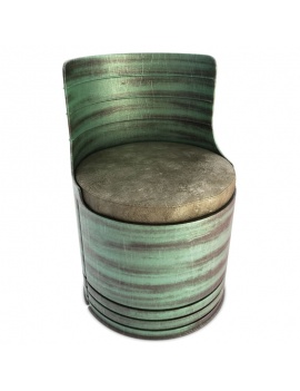 collection-of-pub-vintage-furniture-3d-drum-armchair-green