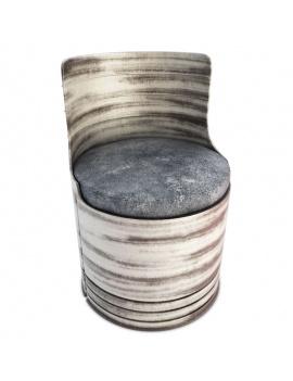 collection-de-mobilier-pub-vintage-3d-fauteuil-drum-blanc
