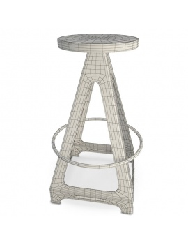 collection-of-pub-vintage-furniture-3d-stool-livorno-wireframe