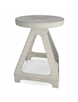 collection-of-pub-vintage-furniture-3d-stool-livorno-small-wireframe
