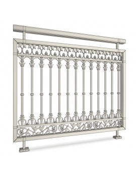 collection-of-pub-vintage-furniture-3d-railing-wireframe