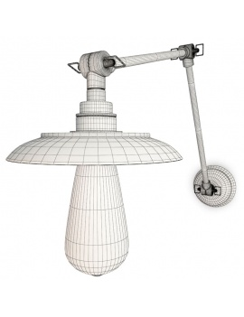 collection-of-pub-vintage-furniture-3d-reznor-wall-lamp-wireframe