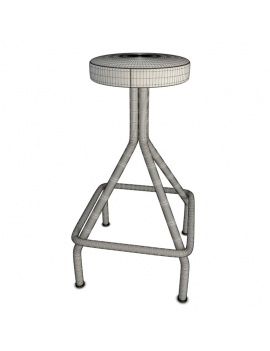 collection-of-pub-vintage-furniture-3d-stool-mendel-wireframe